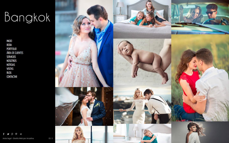 Web para fotógrafos. Diseño Bangkok