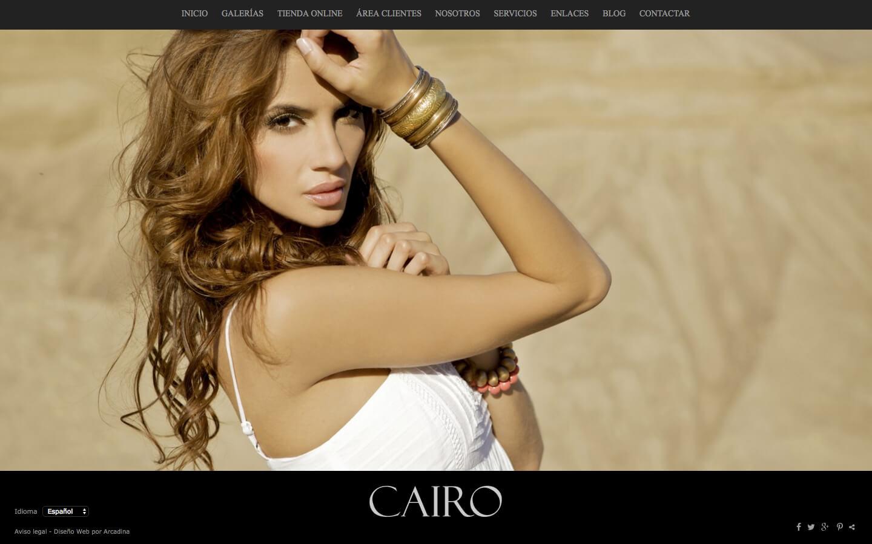 Photographers website. Design: Cairo