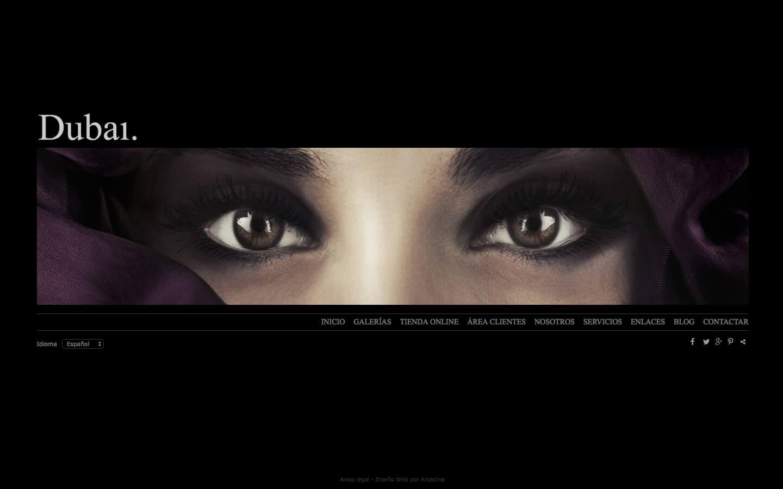 Sito web per a fotografi. Web design Dubai