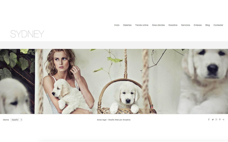 Photographers website. Design: Sydney