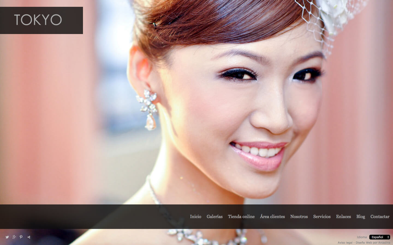 Web para fotógrafos. Diseño Tokyo