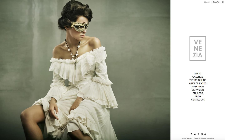 Photographers website. Design: Venezia