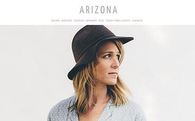 Sito web con blog per i fotografi - Theme Arizona