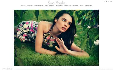 Photographer Website - Theme Sao Paulo